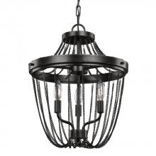 Sea Gull 7710103-846 - Three Light Semi-Flush Convertible Pendant