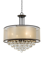 CAL Lighting FX-3644-4 - 60W X 4 Tiffin Double Shade Chandelier With Crystals