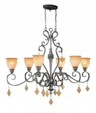 Vaxcel International MM-PDU510AE - Montmarte 6L Oval Chandelier