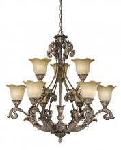 Vaxcel International MT-CHU009AR - Monte Carlo 9L Chandelier