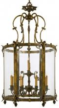 Minka Metropolitan n2343 - Antique Bronze Patina Clear Glass Framed Glass Foyer Hall Fixture