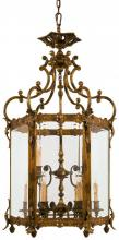 Minka Metropolitan n2345 - Antique Bronze Patina Clear Glass Framed Glass Foyer Hall Fixture