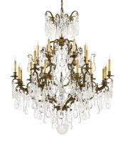 Minka Metropolitan n950040 - Twenty Four Light Oxidized Brass Bohemian Crystals Glass Up Chandelier