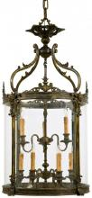 Minka Metropolitan n952009 - Oxide French Gold Clear Glass Framed Glass Foyer Hall Fixture