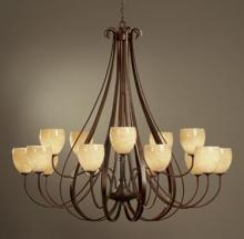 Hubbardton Forge 192166-SKT-10-GG0103 - Sweeping Taper 15 Arm Chandelier
