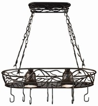 Kenroy Home 90308BRZ - Twigs 2 Lt. Pot Rack