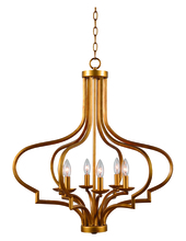 Kenroy Home 93706GLD - Morocco 6 Light Chandelier