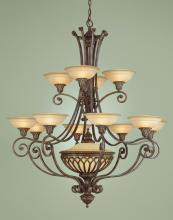 Feiss F1918/12+1BRB - 1- Light Multi-Tier Chandelier