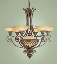 Feiss F1919/6+1BRB - 6- Light Single Tier Chandelier