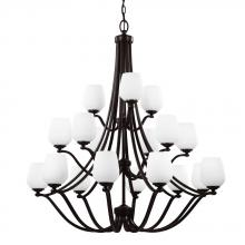 Feiss F2962/9+6+3HTBZ - 18 - Light Chandelier