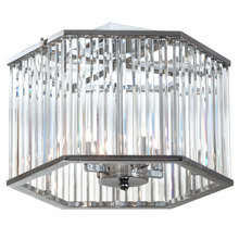 Dainolite ARU-154SF-PC - 4LT Crystal Semi Flush