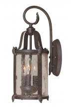 World Imports WI169289 - Old Sturbridge Collection 3-Light Bronze Outdoor Wall Lantern