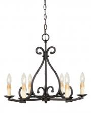 World Imports WI6181742 - Rennes 6-Light Rust Chandelier